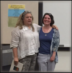 Becky (left) presented a photo book of Issaquah that we all signed as we said farewell to Caroline (left) and wish her an amazing new adventure!